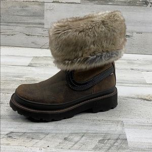 Ariat Fatbaby Leather Tough Tread Fur Cuff Boots